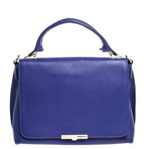 Emilio Pucci Blue Leather Flap Top Handle Bag