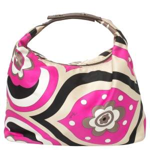 Emilio Pucci Multicolor Printed Fabric Clutch Bag