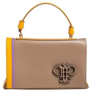 Emilio Pucci Tri Color Leather Mini Pilot Top Handle Bag