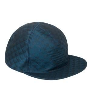 Emporio Armani Blue Monogram Pattern Baseball Cap L