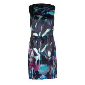 Emporio Armani Multicolor Digital Floral Print Sleeveless Dress M