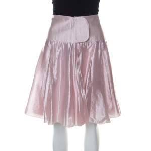 Emporio Armani Metallic Pink Short Flared Skirt M