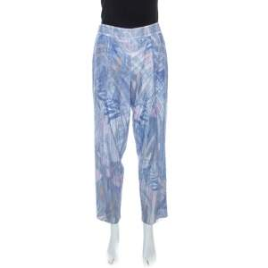 Emporio Armani Elite Blue Crystal Embellished Trousers M