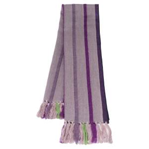 Emporio Armani Purple Wool Striped Stole