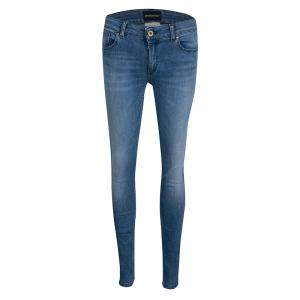Emporio Armani Indigo Washed Faded Effect Denim Dakota Skinny Jeans M