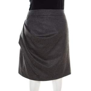 Emporio Armani Grey Knit Draped Mini Skirt M