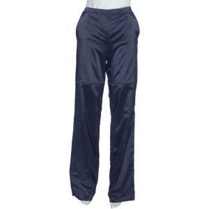 Emporio Armani Navy Blue Padded Wide Leg Pants M