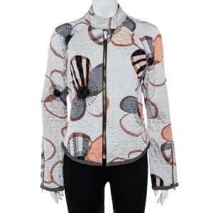 Emporio Armani Multicolor Floral Print Quilted Jacket L