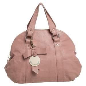 Emporio Armani Old Rose Pink Leather Zip Satchel