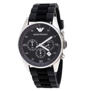 Emporio Armani Black Stainless Steel AR5866 Chronograph Men's Wristwatch 43 mm