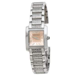Emporio Armani Peach Stainless Steel AR5710 Women's Wristwatch 23 mm