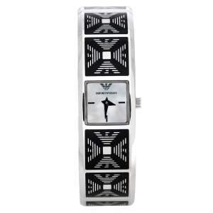 Emporio Armani White Mother Of Pearl Stainless Steel AR5745 Women's Wristwatch 18 mm