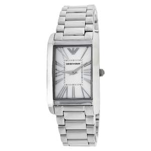 Emporio Armani Mother Of Pearl Stainless Steel Classic AR2037 Women's Wristwatch 24.50 mm