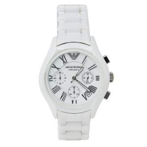 Emporio Armani White Ceramic Ceramica AR1404 Women's Wristwatch 38 mm