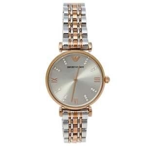 Emporio Armani Grey Two-Tone Stainless Steel AR1840 Women's Wristwatch 32 mm