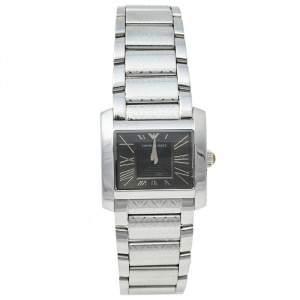 Emporio Armani Black Stainless Steel AR5708 Women's Wristwatch 27 mm