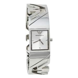 Emporio Armani Silver Stainless Steel AR5740 Women's Wristwatch 19 mm