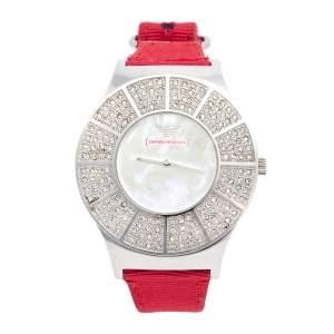 ساعة يد نسائية امبوريو أرماني AR5754 ستانلس ستيل وصدف 38 مم