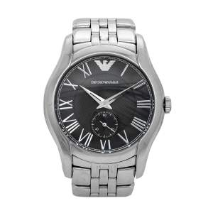 Emporio Armani Black Stainless Steel Classic AR1710 Women's Wristwatch 38 mm