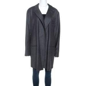 Equipment Charcoal Grey Wool Oversized Blazer S