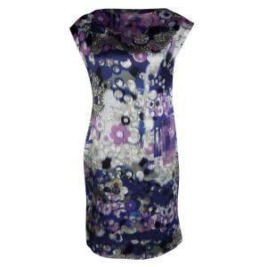 Erdem Multicolor Digital Printed Silk Sleeveless Dress M