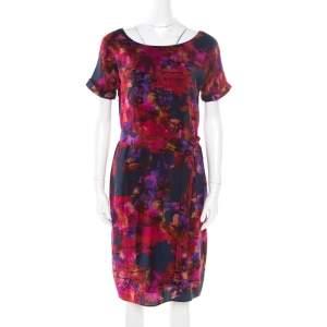 Erdem Multicolor Floral Printed Silk Belted Dress M