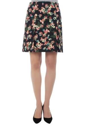 Erdem Multicolor Flower Garden Print Pleat Detail Calista Skirt S