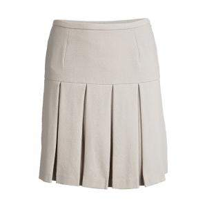 Ermanno Scervino Beige Wool Pleated Mini Skirt S