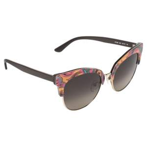 Etro Brown/Orange Paisley Gradient ET108S Cat Eye Sunglasses