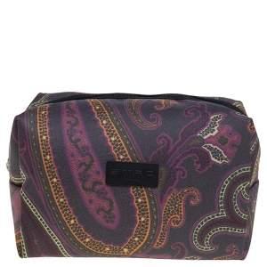 Etro Multicolor Paisley Fabric Makeup Case