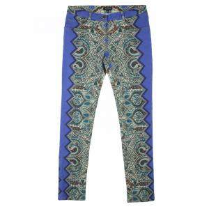 Etro Multicolor Printed Denim Skinny Jeans M