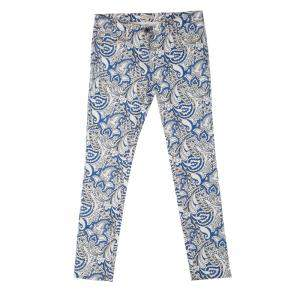 Etro Multicolor Paisley Printed Slim Fit Denim Jeans L