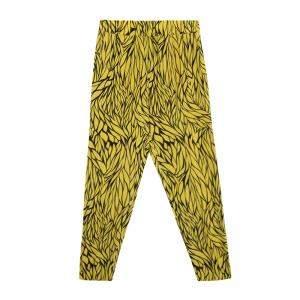 Etro Yellow and Black Leaf Printed Silk Elasticized Waist Pants M