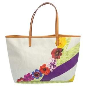 Etro Multicolor PVC Floral Print Tote