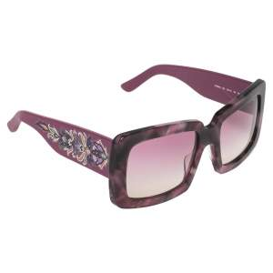 Etro Purple Paisley ET664S Square Sunglasses
