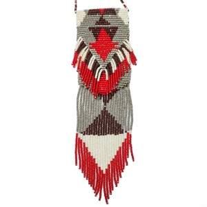 Etro Multicolor Bead Tasseled Navajo Amulet Bag Necklace