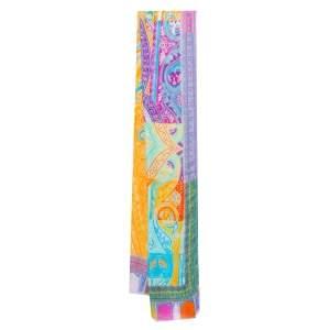 وشاح إيترو مودال وكشمير طباعة بيزلي متعددة الألوان