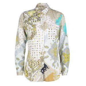 Etro Multicolor Paisley Print Cotton Long Sleeve Shirt S