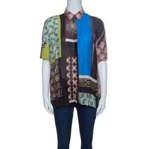 Etro Multicolor Printed Cotton Oversized Shirt M