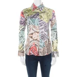 Etro Multicolor Paisley Printed Cotton Long Sleeve Shirt S