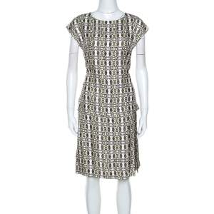 Etro White Printed Silk Midi Dress S