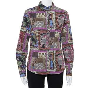 Etro Multicolor Paisley Printed Button Front Fitted Shirt L