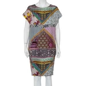 Etro Multicolor Printed Silk Oversized Shift Dress M