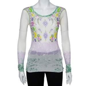 Etro Multicolor Floral Printed Cotton Long Sleeve T-Shirt M