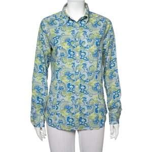 Etro Multicolor Paisley Printed Cotton Button Front Shirt L