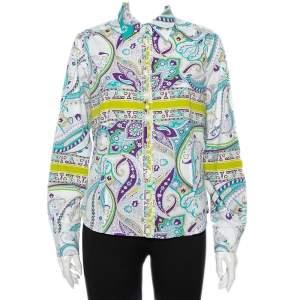 Etro Multicolor Paisley Prited Cotton Button Front Shirt L