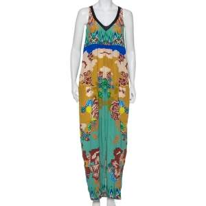 Etro Multicolor Printed Silk Sleeveless Maxi Dress M