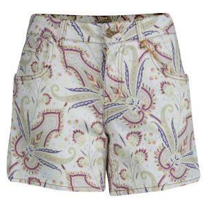 Etro Paisley Printed Denim Shorts M