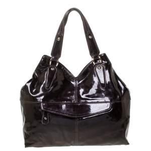 Etro Metallic Purple Patent Leather Shoulder Bag