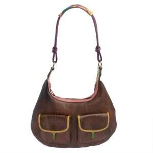 حقيبة هوبو إيترو كانفاس مقوى طباعة بيسلى متعددة الألوان